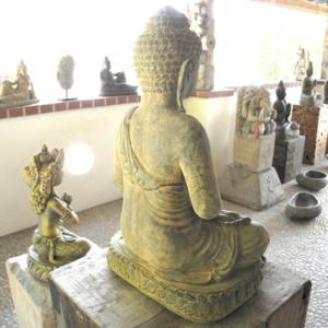 socha Budhy - Buddhy - do zahrady i interiéru-zezadu