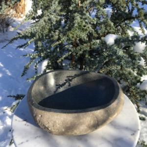 kamenná nádoba -mísa - exteriér, interiér, zahrady