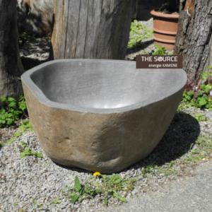 kamenná nádoba - velká mísa - exteriér, zahrady