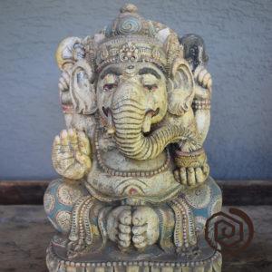 Ganesha - drcený lávový kámen
