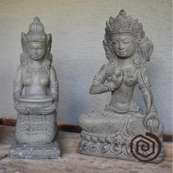 socha z lávového kamene - odlitek - pozdrav, svícen