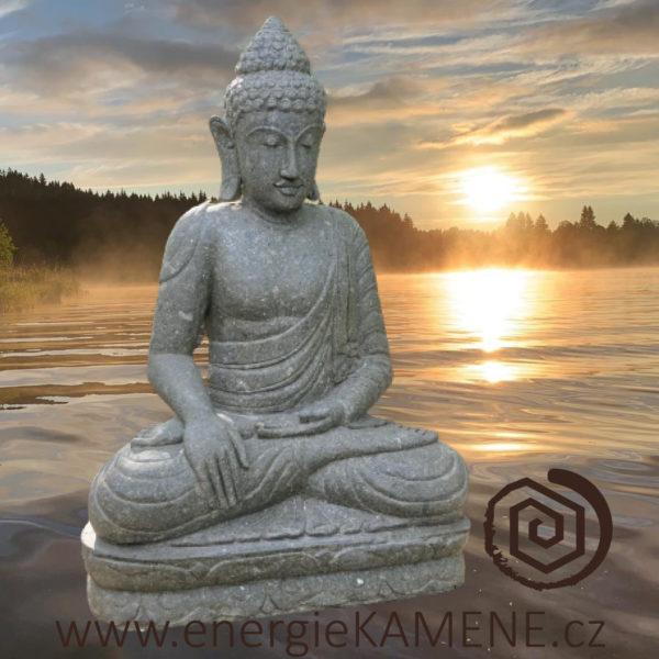 Buddha - říční kámen Bali - Energie kamene - exkluzivní originál